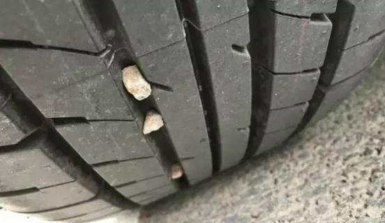 What if there are a lot of stones on your car tires? So I did it this way